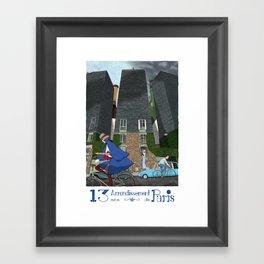13eme Arrondissement Framed Art Print