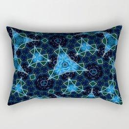 Blue elegant magic pattern Rectangular Pillow