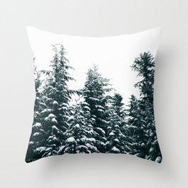 Winter X Throw Pillow