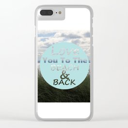 Beach And Back Clear iPhone Case