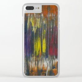 Rusted Rainbow Clear iPhone Case