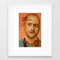 chad wys Framed Art Prints featuring 50 Artists: Chad Beroth by Chad Beroth