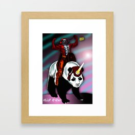 KILLER AND PANDACORN Framed Art Print