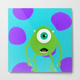 Mike and Sully Metal Print
