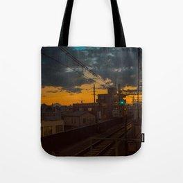Tokyo Nights / Sunset over Fuji / Liam Wong Tote Bag