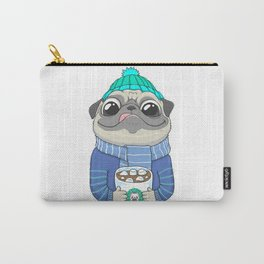 Pug with coffee Carry-All Pouch