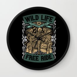 Wild Life, Free Ride Wall Clock
