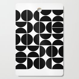 Mid Century Modern Geometric 04 Black Cutting Board