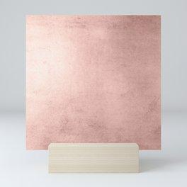 Blush Rose Gold Ombre Mini Art Print