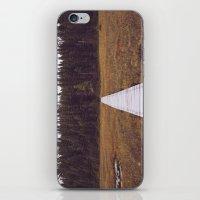 hiking iPhone & iPod Skins featuring Fall Hiking by Simon Laroche