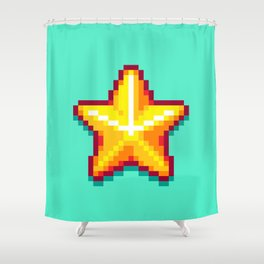 Pixel Star Shower Curtain