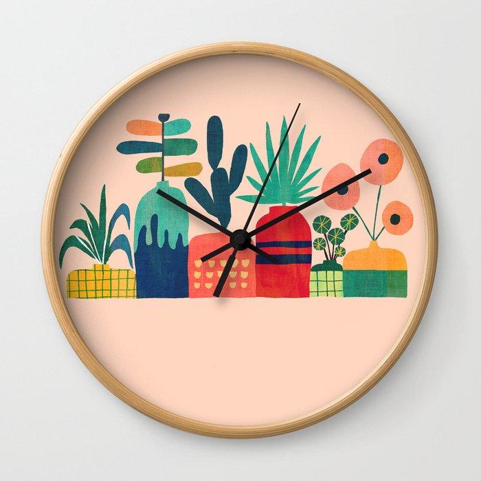 Plant mania Wall Clock
