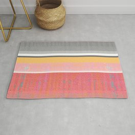 Sunshine in the Mind: Uplifting Happy Color Texture Study Abstract Rug