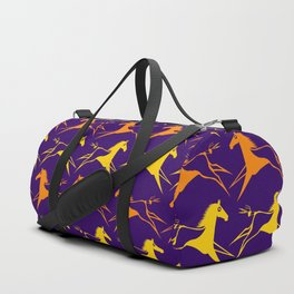 Horse Nation Purple Gold Duffle Bag