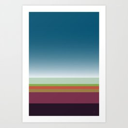 Santa Monica Horizon Art Print