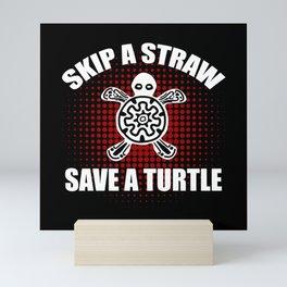Save a Turtle Nature Conservation Mini Art Print