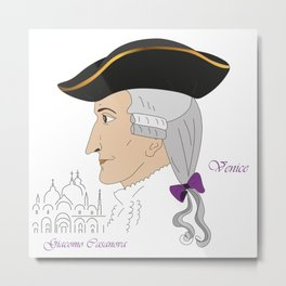 Giacomo Casanova Metal Print