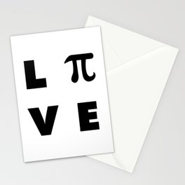 Love Pi Stationery Cards