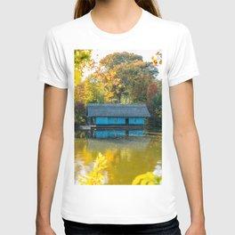 Home Sweet Home, Lake House, Fall Landscape, Lonely Home, Colorful Trees, Autumn Season, Wall Art T-shirt