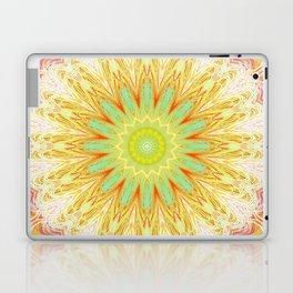 Pastel Yellow Pink Mandala Design Laptop & iPad Skin