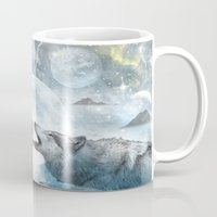 wolves Mugs featuring Wolves by haroulita