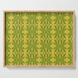 Marijuana Leaf Pattern Serving Tray