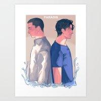Paradis Art Print