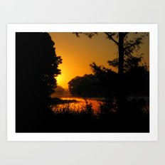 Orange Glow of Sunrise Art Print
