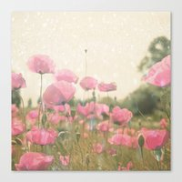 poppies Canvas Prints featuring POPPIES by Monika Strigel