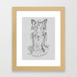 Touch Me Butterfly Framed Art Print