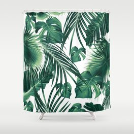 Tropical Jungle Leaves Dream #3 #tropical #decor #art #society6 Shower Curtain