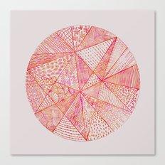 Circle Of Life - pink & orange Canvas Print