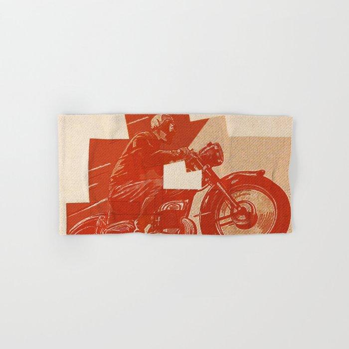 Motorcycle Race II Hand & Bath Towel