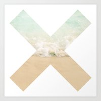 the xx Art Prints featuring XX by Rose Zhang