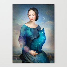 Night Cat Canvas Print