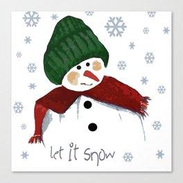 Let's build a snowman, let it snow Canvas Print