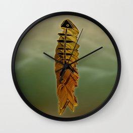 Atlante / ORANGE in BLUE Wall Clock
