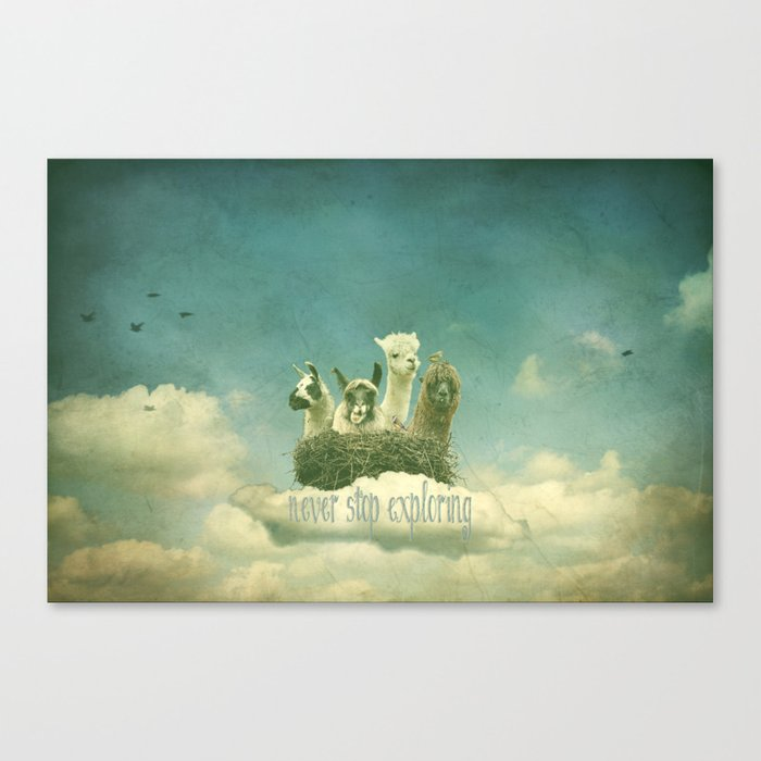 NEVER STOP EXPLORING THE CLOUDS Canvas Print
