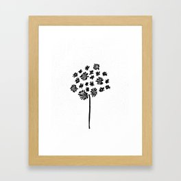 Starburst Tree Framed Art Print