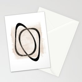 Interlocking Two AA - Minimalist Line Abstract Stationery Cards