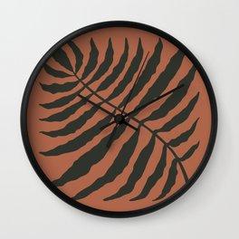 Abstract Leaf terracota Wall Clock