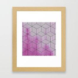 Cubism Lilac Watercolor Framed Art Print