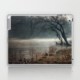 Morning fog, river and sunrise Laptop & iPad Skin