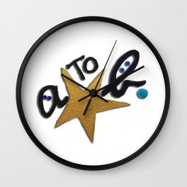 B FOR AGNES B - A STAR TO BE Wall Clock