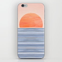 Summer Sunrise - Minimal Abstract iPhone Skin
