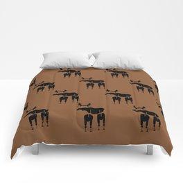 Brown Moose Pattern Comforters