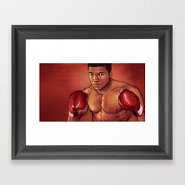 Young Ali Framed Art Print