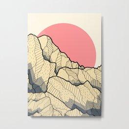 A new autumn hill Metal Print