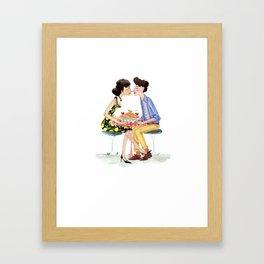 Spaghetti lovers Framed Art Print