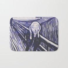 The Scream's Haze (dark blue) Bath Mat